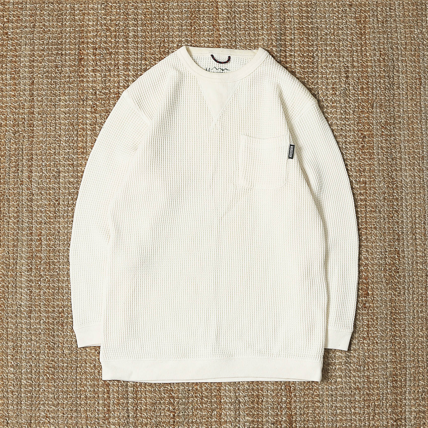 MANASTASH SNUG HEMP WAFFLE THERMAL - OFF WHITE
