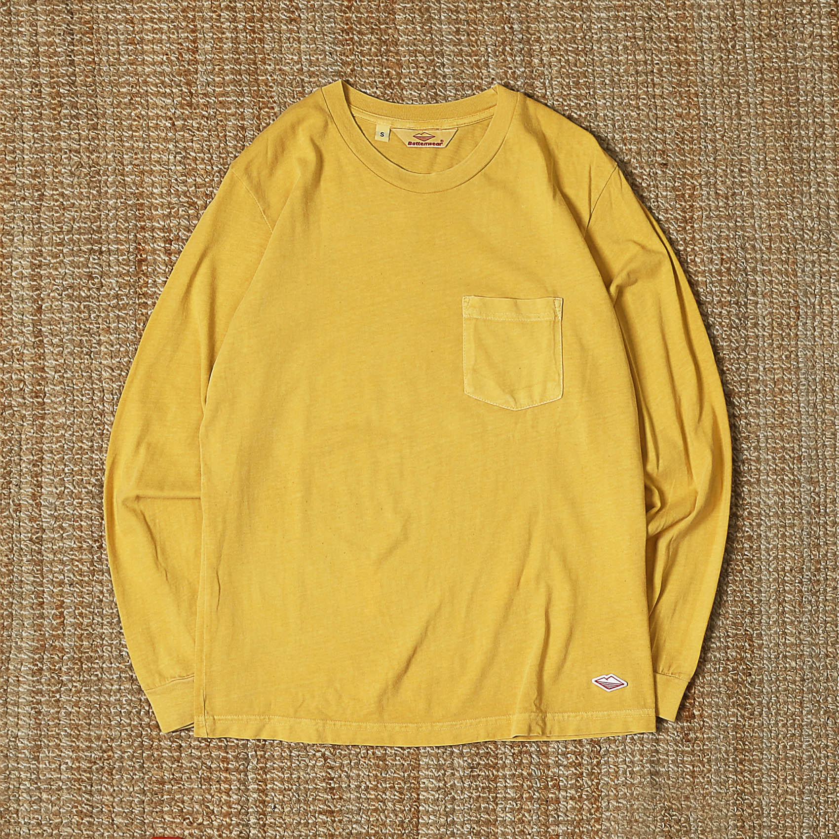 BATTENWEAR L/S POCKET TEE - YELLOW