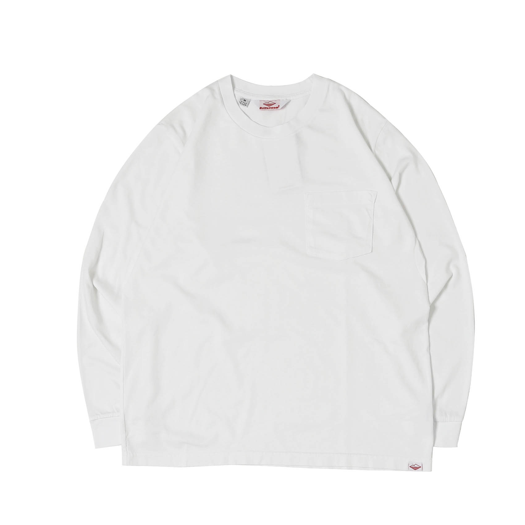 L/S POCKET TEE - WHITE