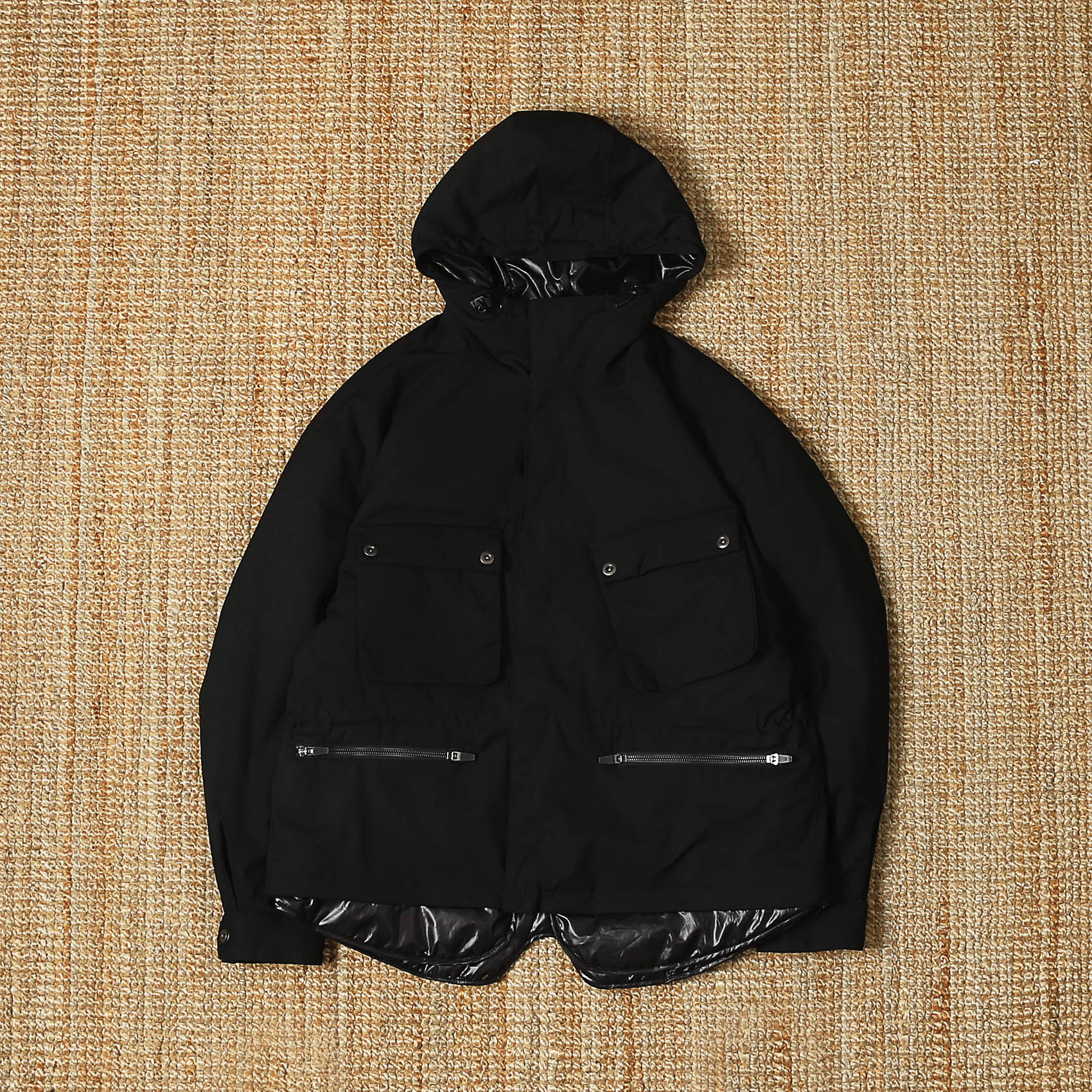 UNAFFECTED  LAYERED RIDER PARKA - BLACK