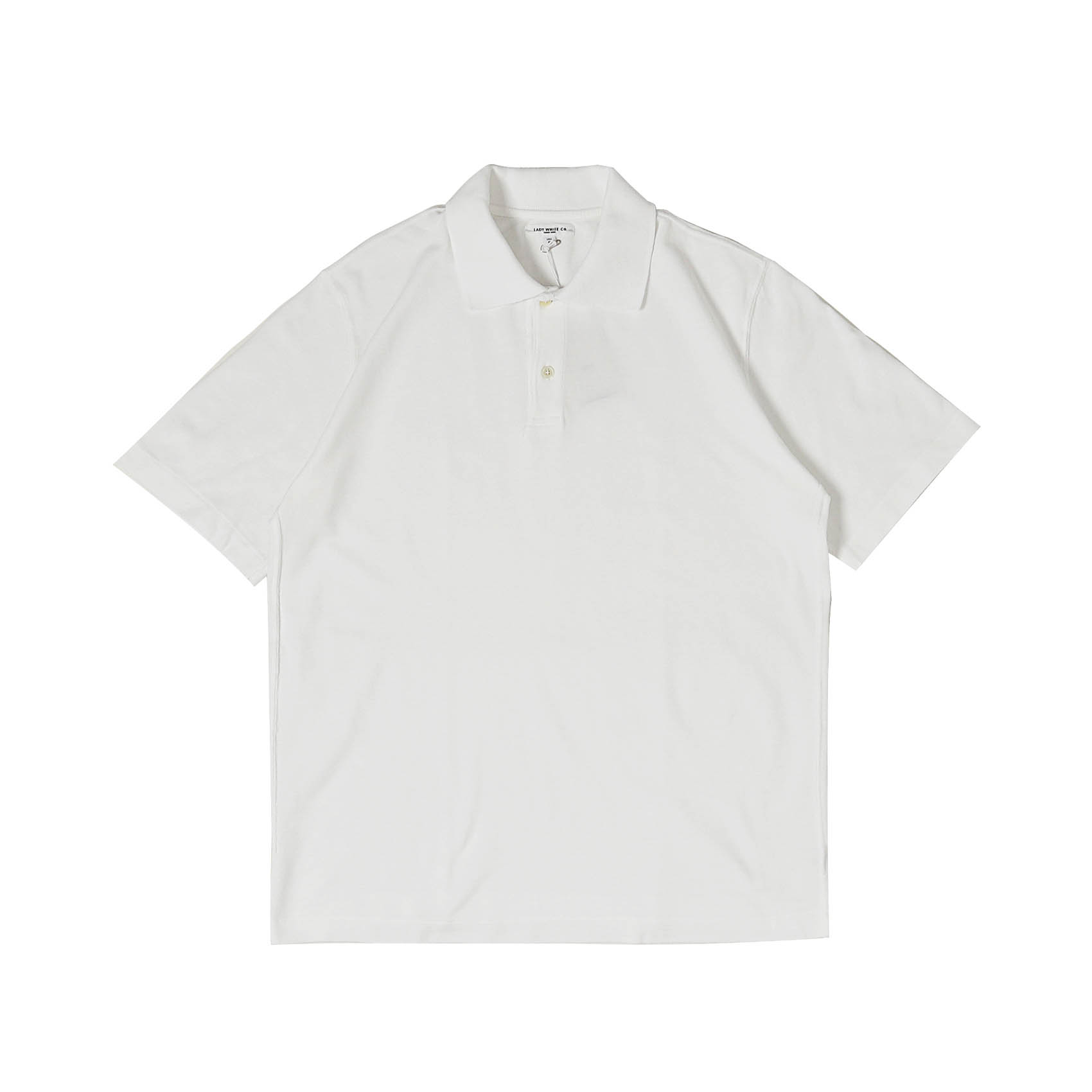 S/S TWO BUTTON POLO - WHITE