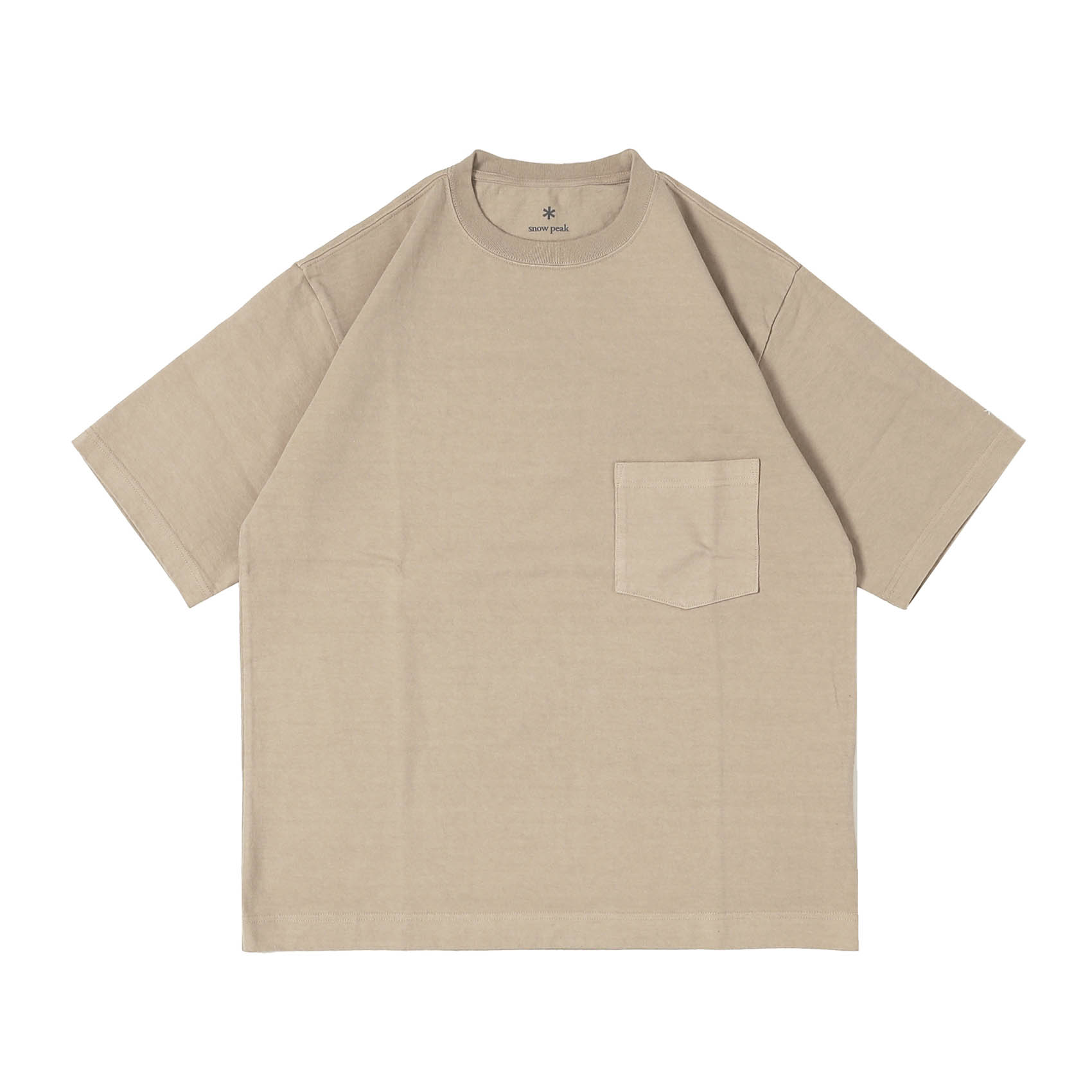 HEAVY COTTON TSHIRT - BEIGE