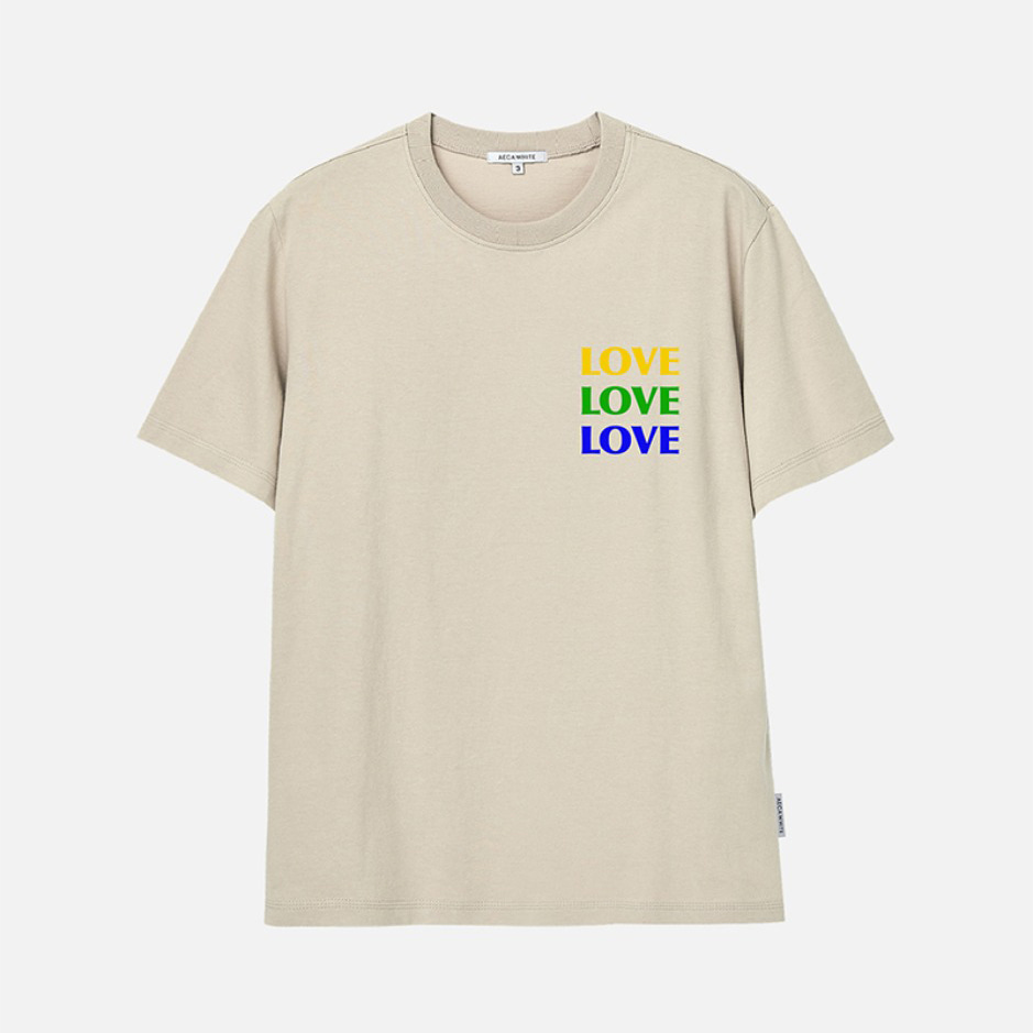 TRIPLE LOVE TEE - BEIGE