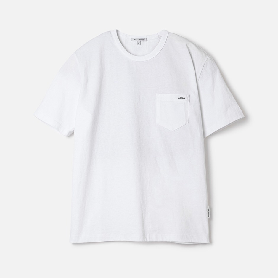 POCKET TEE (PREMIUM BASIC) - WHITE