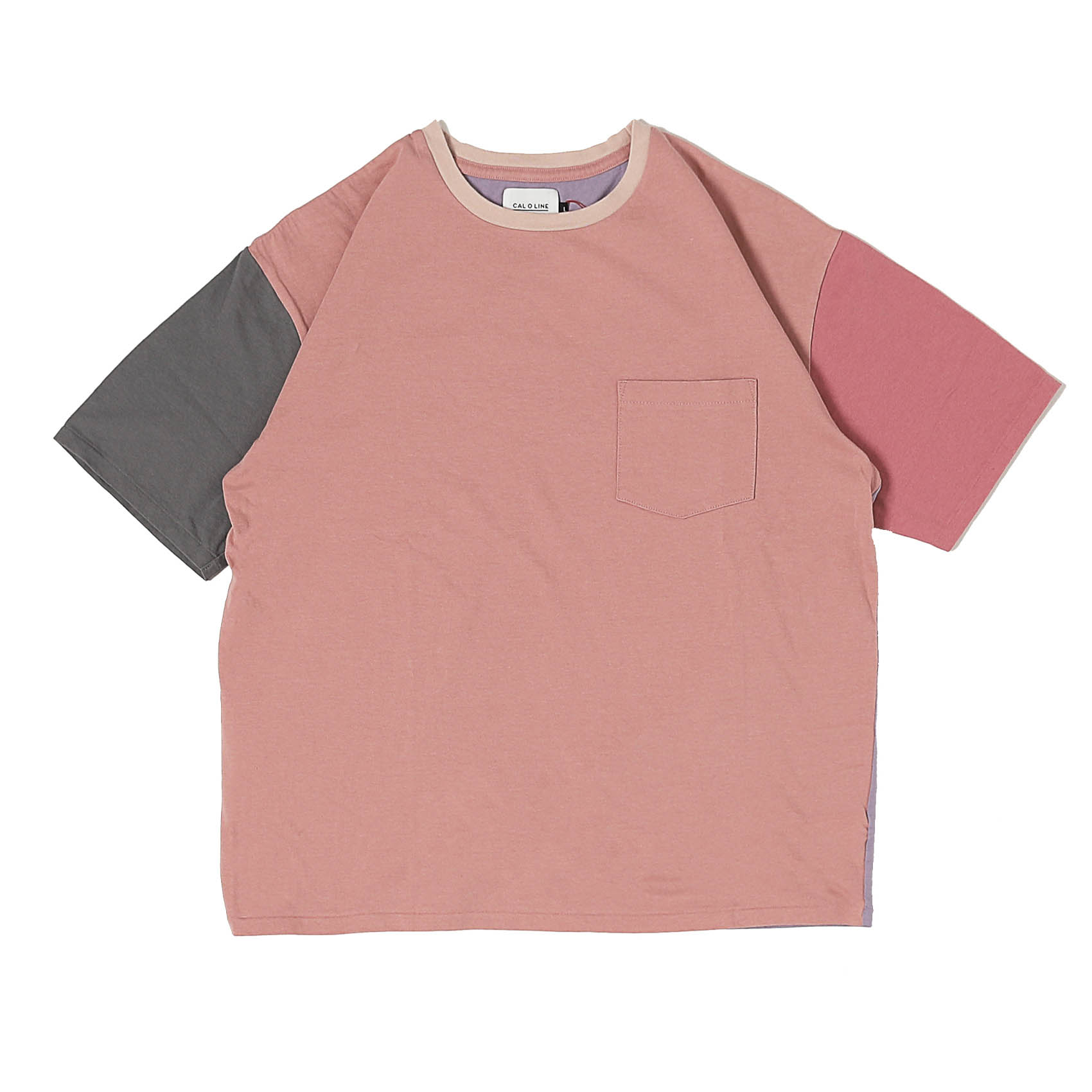 MULTICOLOR S/S TEE - PINK