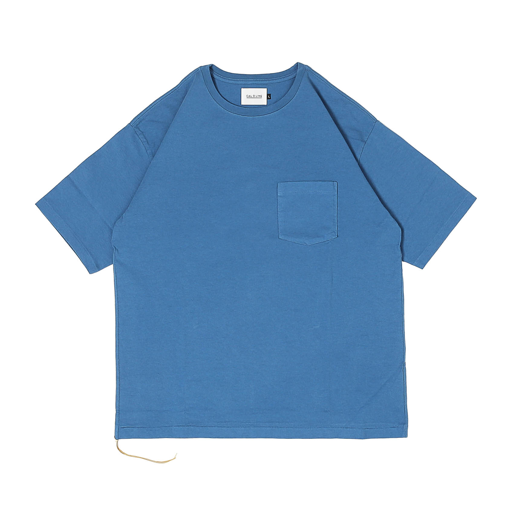 SOLID COLOR POCKET TEE - BLUE