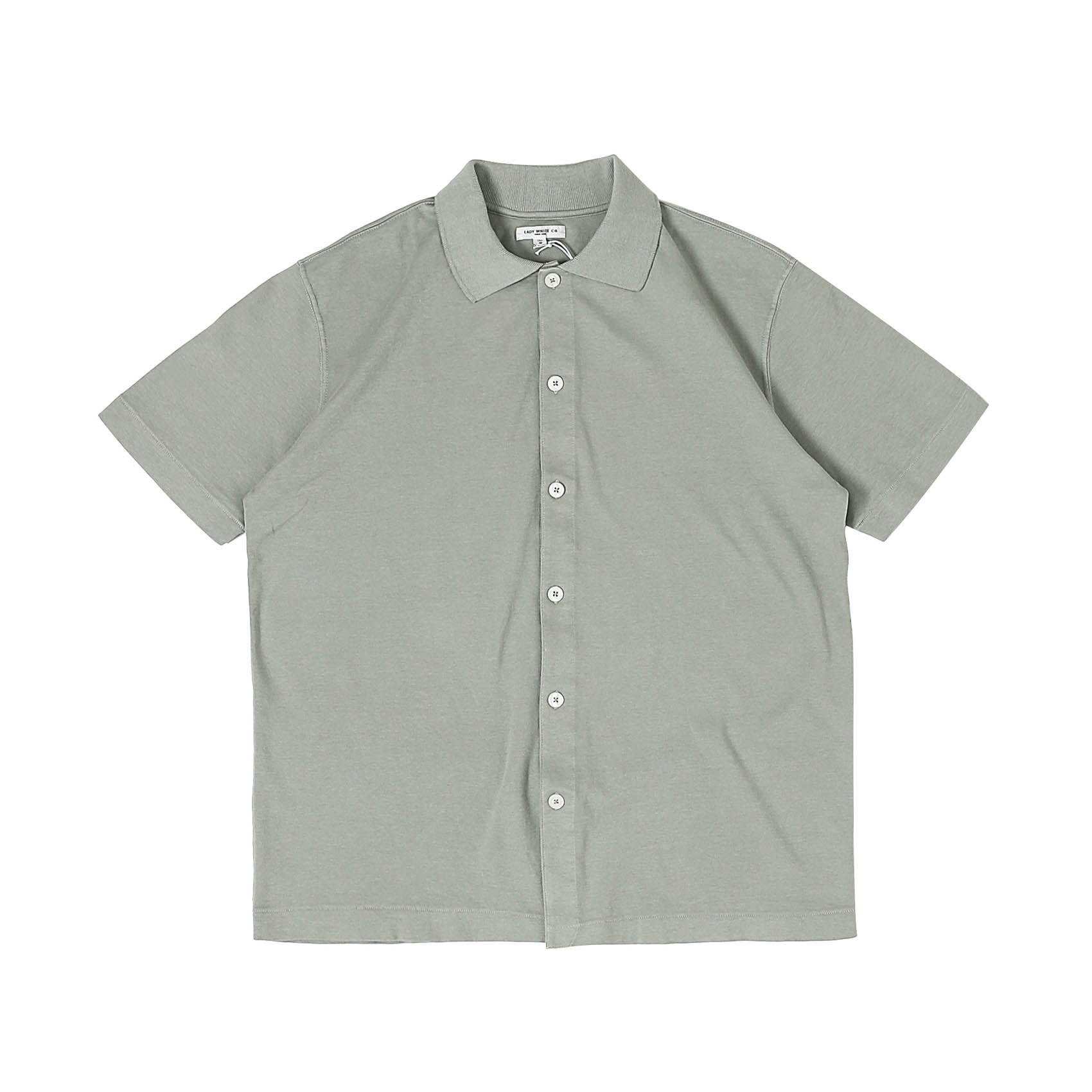 S/S PLACKET POLO - STEEL GREY