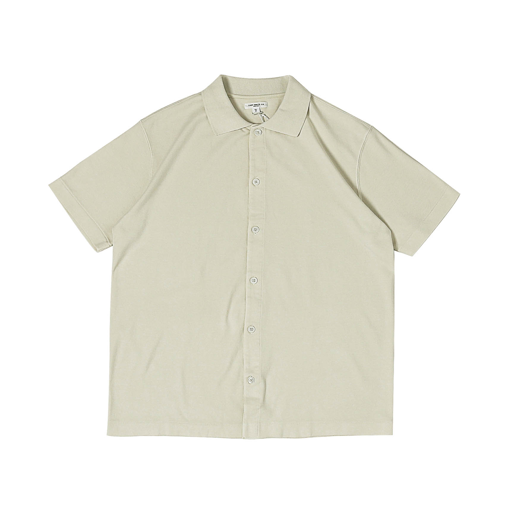 S/S PLACKET POLO - BONE
