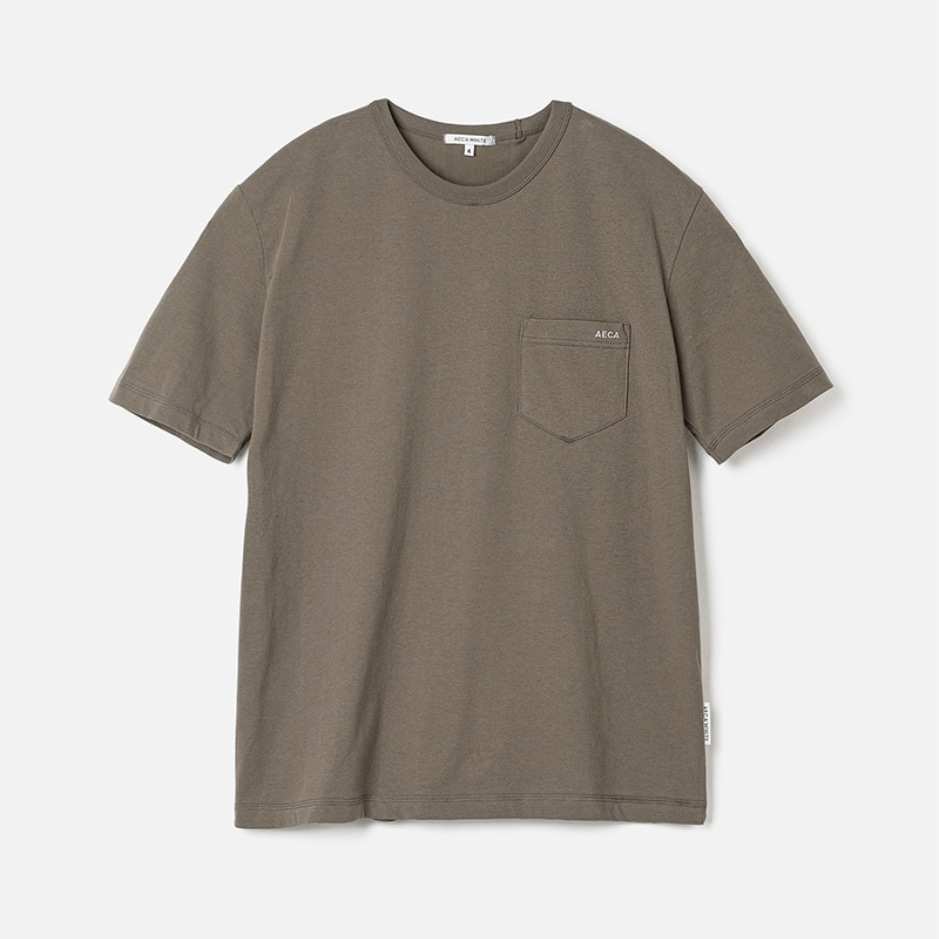 POCKET TEE (PREMIUM BASIC) - COCOA