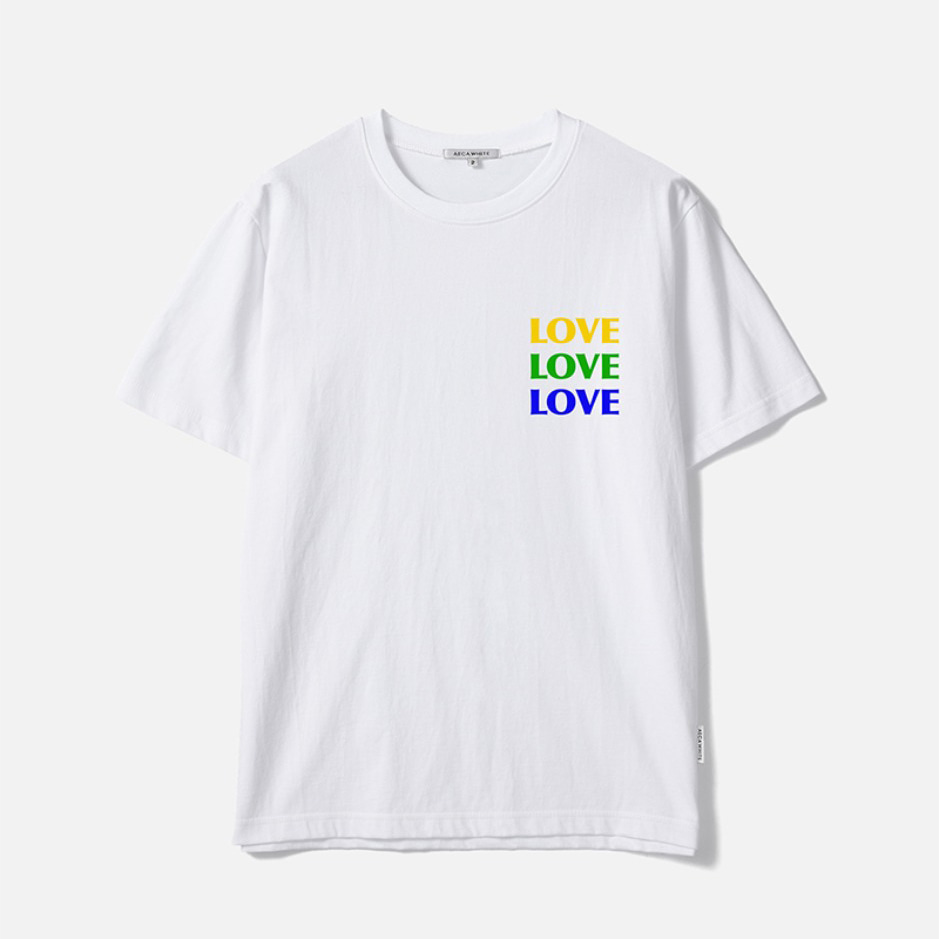 TRIPLE LOVE TEE - WHITE