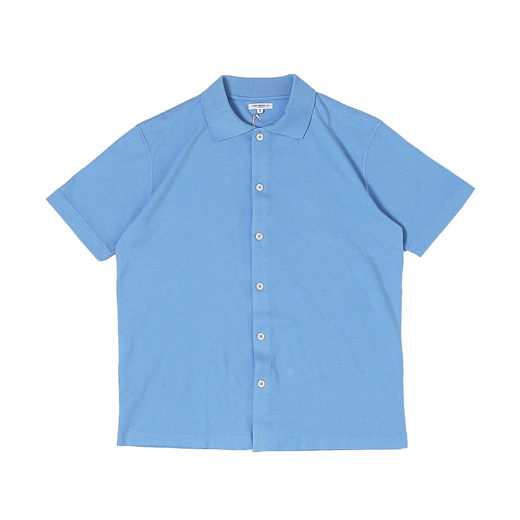 S/S PLACKET POLO - SKY BLUE