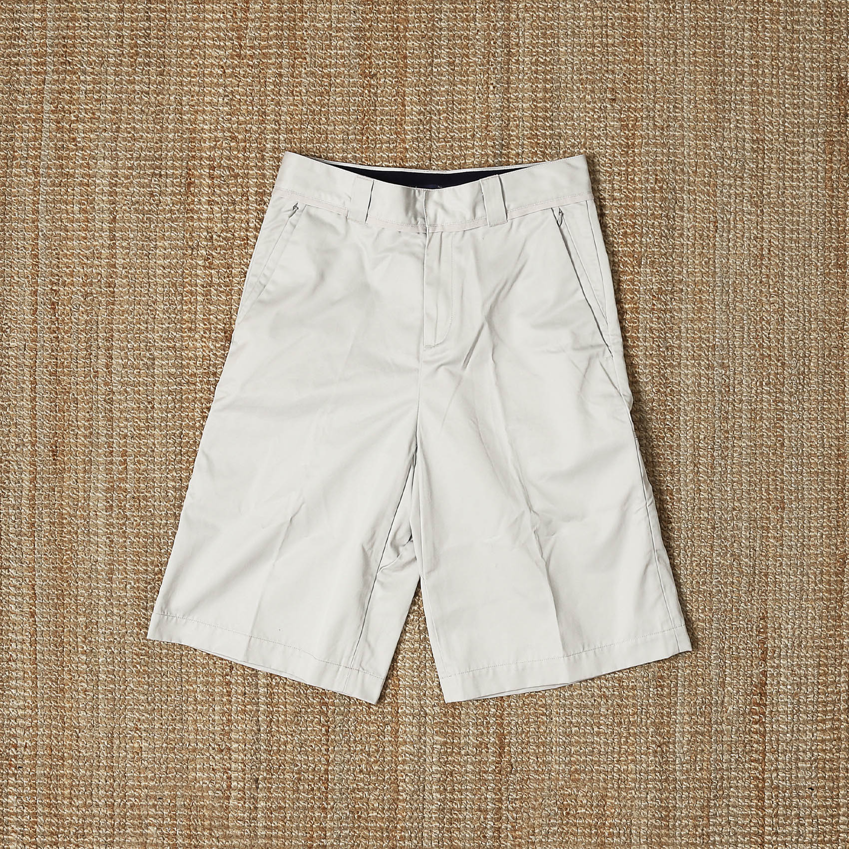 MEANSWHILE WORK TWILL 3 QUARTER PANTS - WHITE