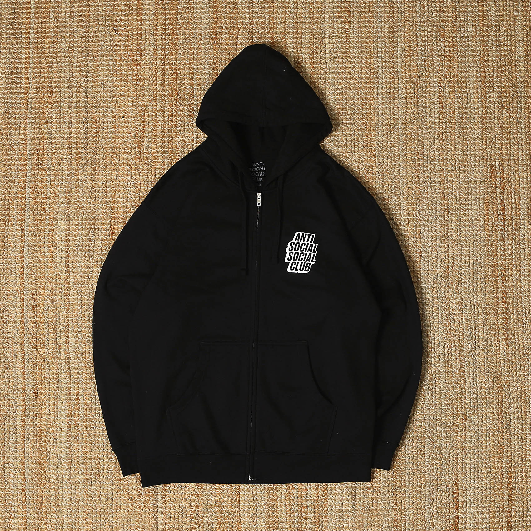 ANTI SOCIAL CLUB HOOD ZIP - BLACK