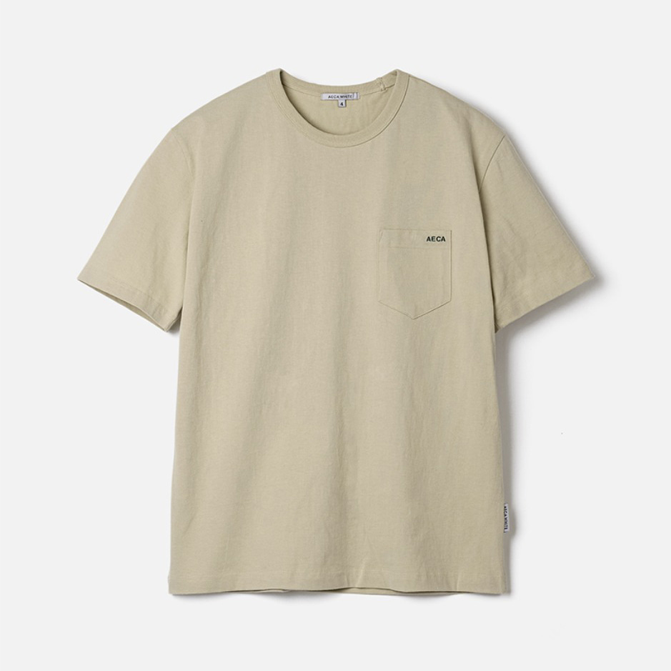 POCKET TEE (PREMIUM BASIC) - BEIGE