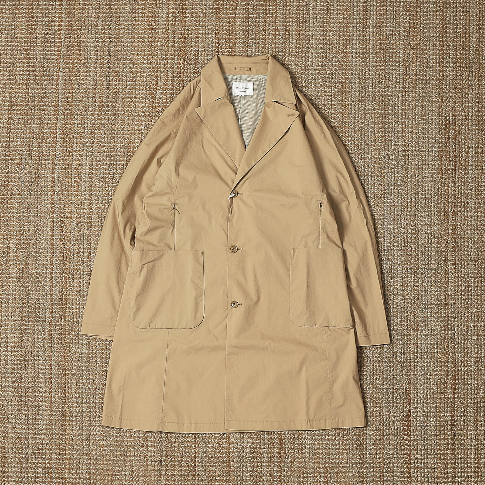 STILL BY HAND AIRY TRENCH COAT - BEIGE