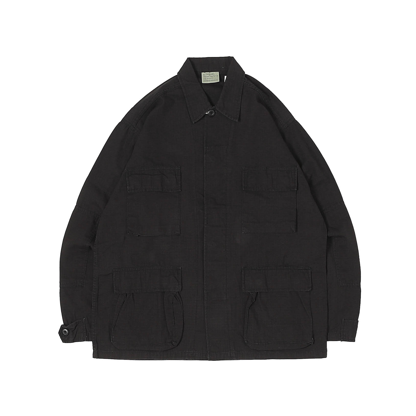 PRINTED BDU JACKET - BLACK