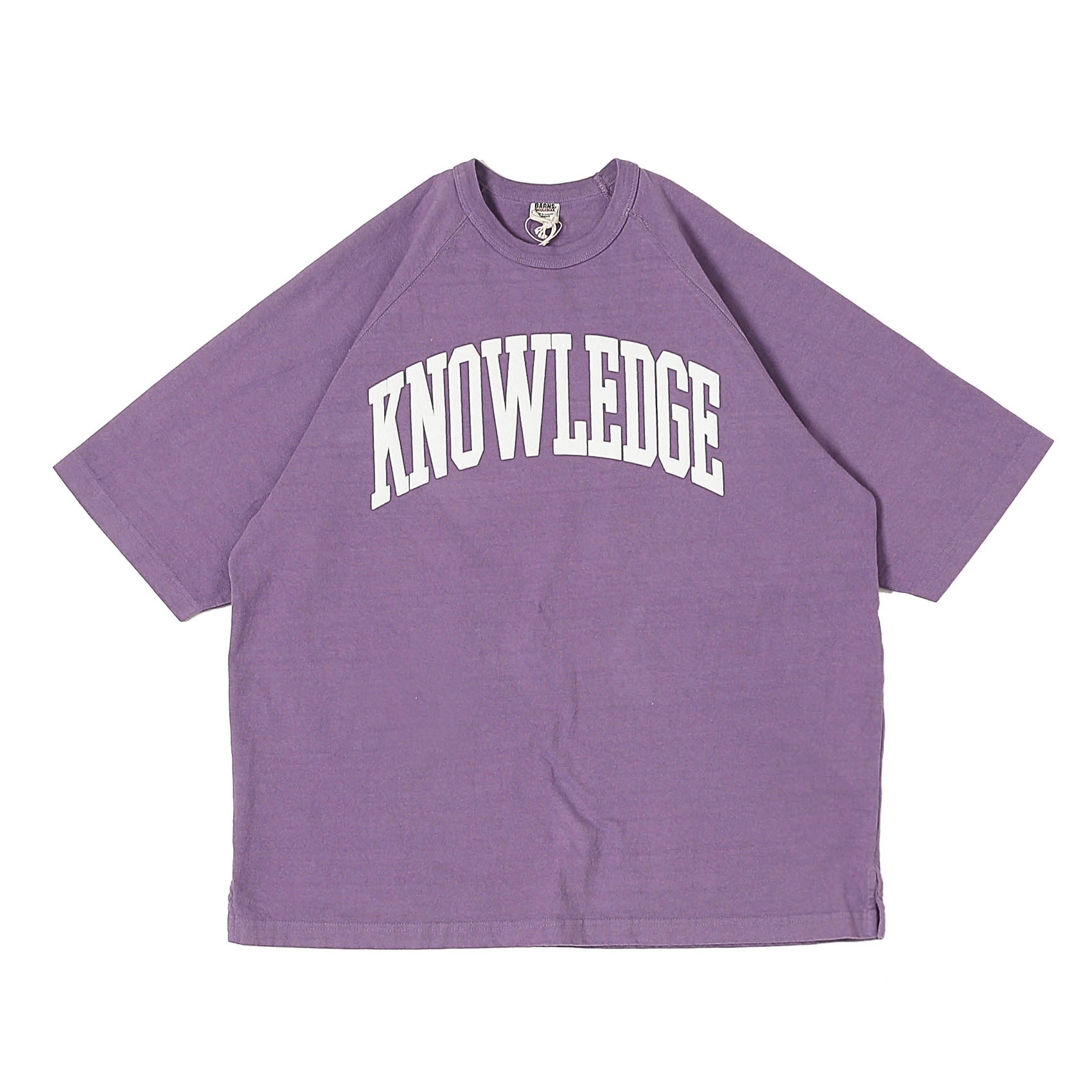 S/S PRINTED TEE - KNOWLEDGE PURPLE