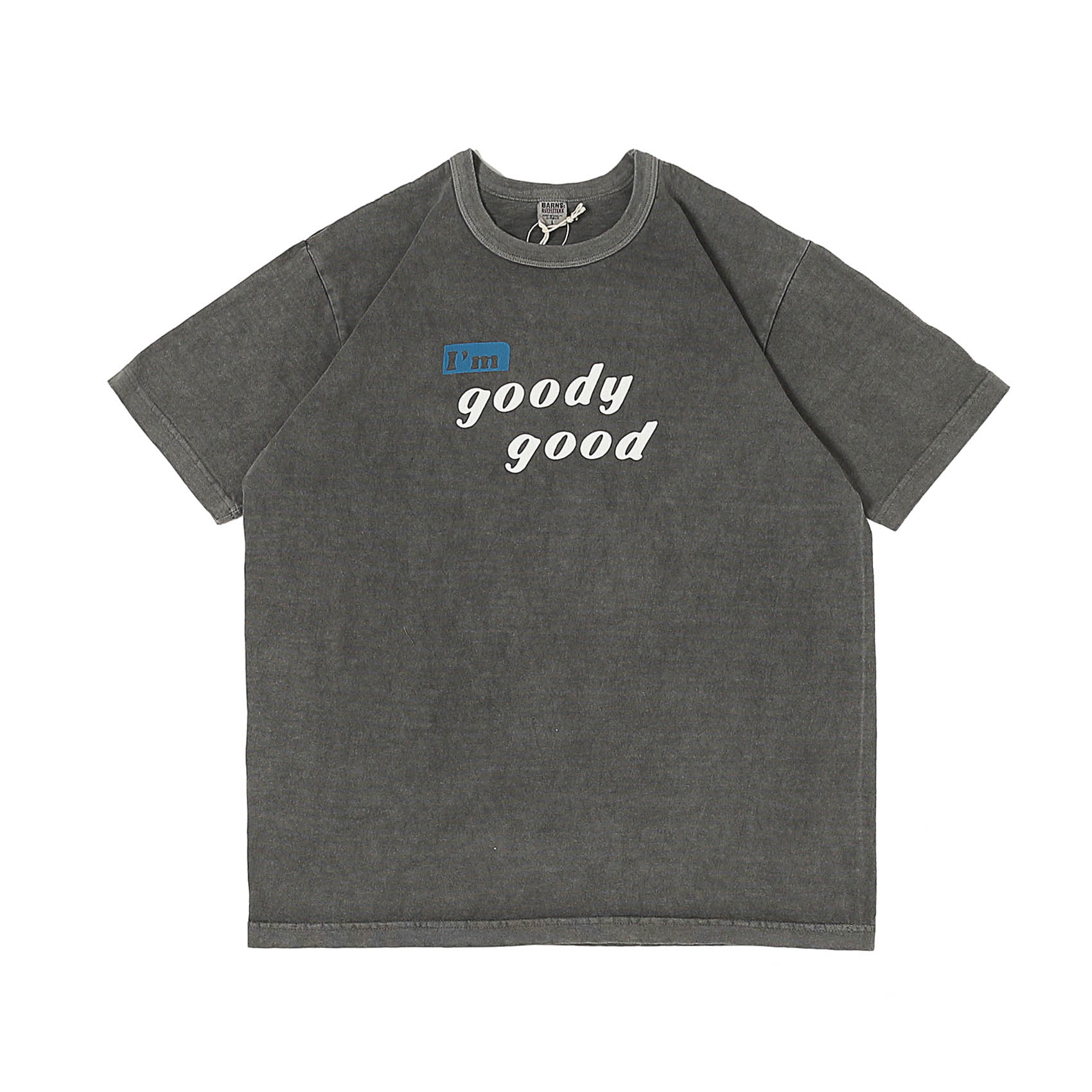 S/S PRINTED TEE - GOODY GOOD CHARCOAL